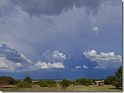 Santa Rosa Lake State Park, New Mexico, storm