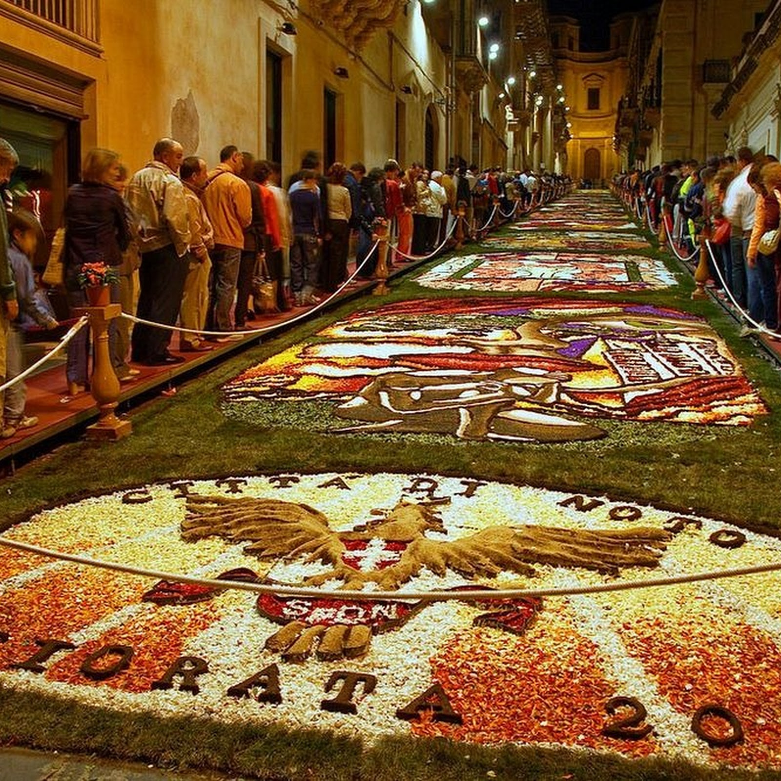 Flower Carpets at Infiorata Festival, Italy