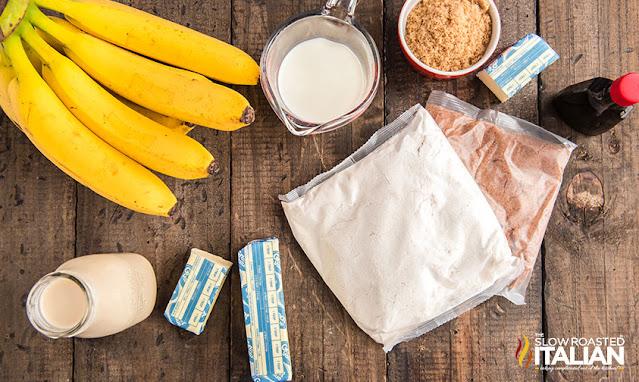 Banana Dessert ingredients