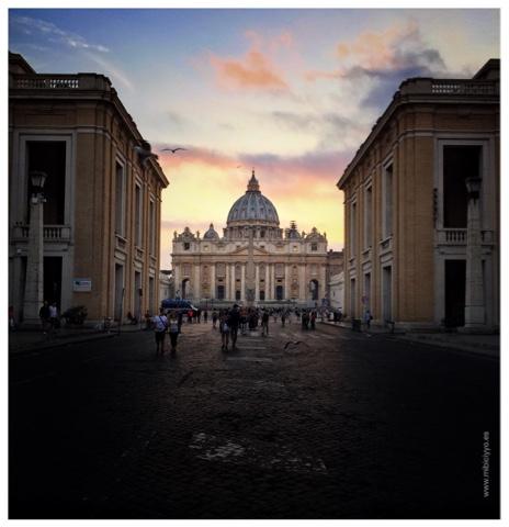 atardecer en el Vaticano