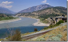 Thompson River merges with Fraser River, Lytton BC, picture from Wikipedia