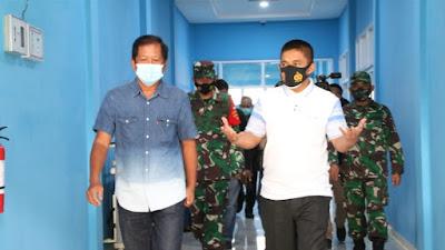 Kepala Staff Kasdam XIV/Hasanuddin dan Brigjend TNI Andi Muhammad, Kunjungi RSUD Latemmamala Soppeng