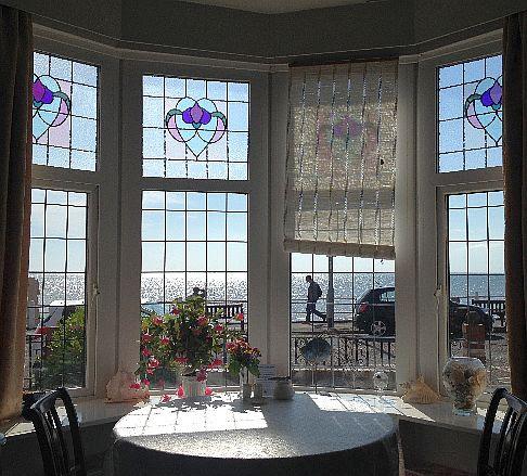 Blick aus dem Frühstücksraum des Sea Front House, 54 S Marine Dr, Bridlington, England