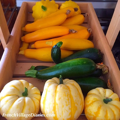French Village Diaries courgettes