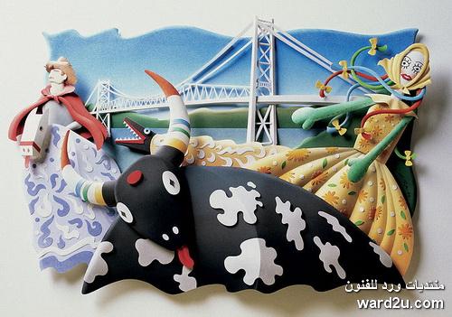 ورق ملون تشكيل الفنان كارلوس ميرا Carlos Meira