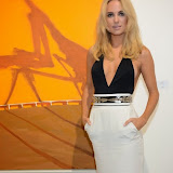 WWW.ENTSIMAGES.COM -   Kimberley Garner     at   Julio Larraz - Rules of Engagement - private view at Contini Art UK, London October 2nd 2014Private view of exhibition devoted to the paintings by Cuban born artist Julio Larraz, his first major solo exhibition in London, featuring paintings, sculptures and caricatures.                                                Photo Mobis Photos/OIC 0203 174 1069