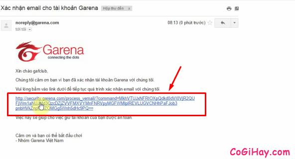 Xác thực email fifa