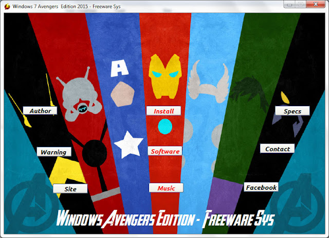 Windows 7 Avengers Edition 2015 x64 Full Activator