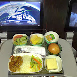 EVA AIR has amazing inflight food in Taoyuan, T'ao-yuan, Taiwan