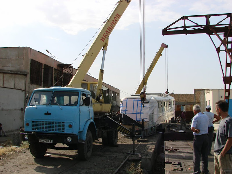 Прибытие Vario LF в Ташкент