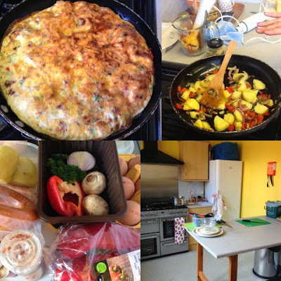 Frittata. Aberdeen Forward - Love Food Hate Waste - Leftover Vegetables and Black Bananas