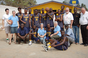 Thursday was sports day - this is us with the current varsity team