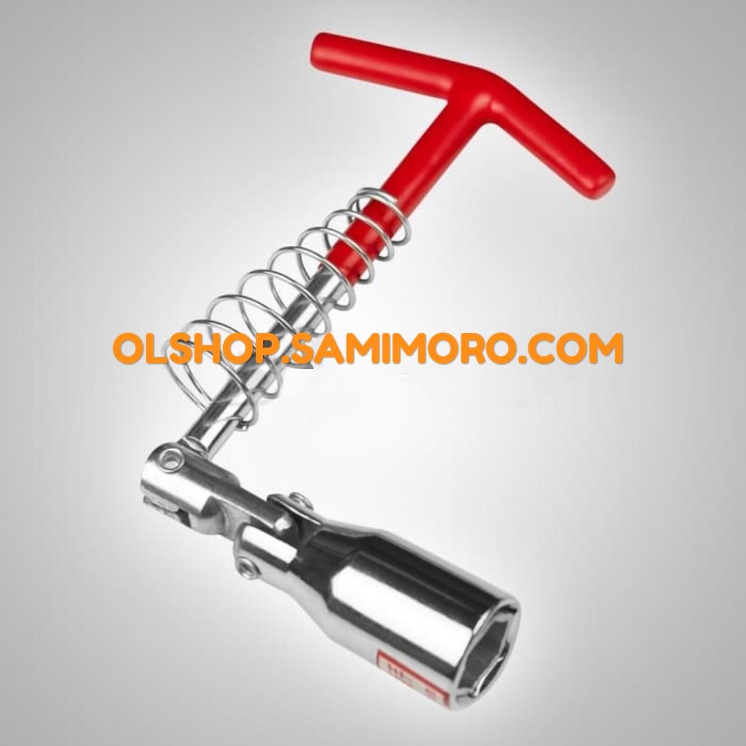 Kunci Busi T Fleksibel 2in1 ukuran 16mm dan Ukuran 21mm
