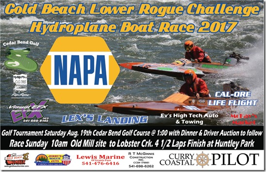 Huntley Park, Gold Beach Lower Rogue Challenge Hydroplane Boat Race