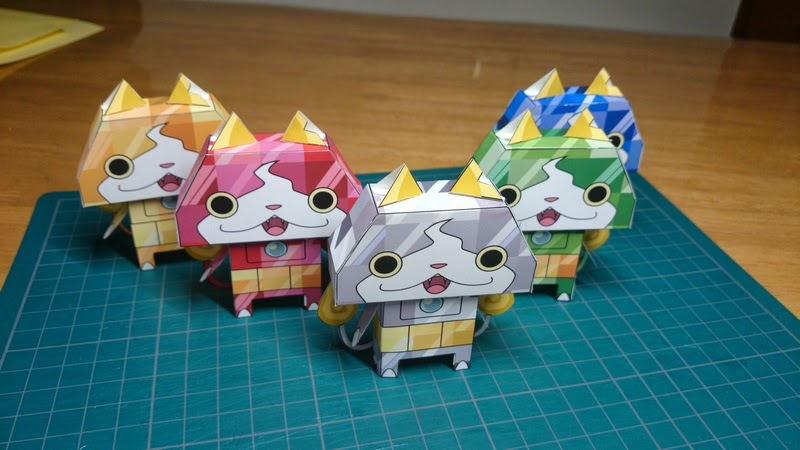 Yokai Watch Papercraft Collection
