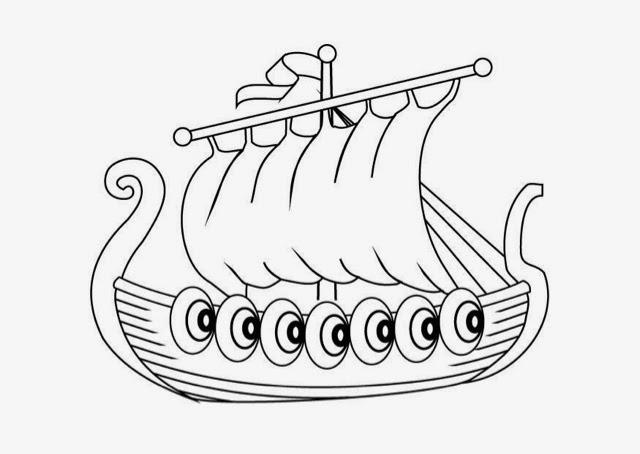 Historia De Las Civilizaciones Barco Vikingo Para Colorear