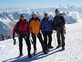 Andy, Phil, Nige & Paul. Mont Blanc Summit 2005