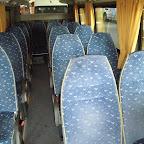 Het interieur van de Mercedes Sprinter van Van Fraassen Travelling bus 455