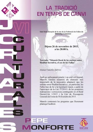Fiscalitat i situació de les Falles en les VI Jornades Culturals Pepe Monforte