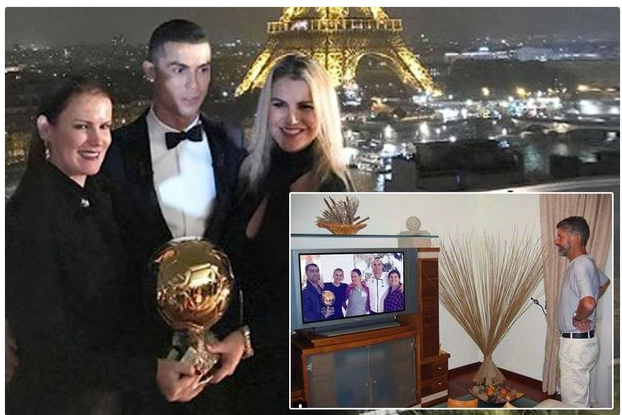 Cristiano Ronaldo's Sister Posts Photo Of Their Late Father 'Watching Him Win Fifth Ballon d'Or'