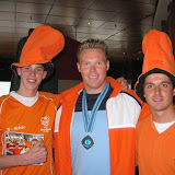 Ontvangst atleten WK atletiek Schiphol, augustus 2005