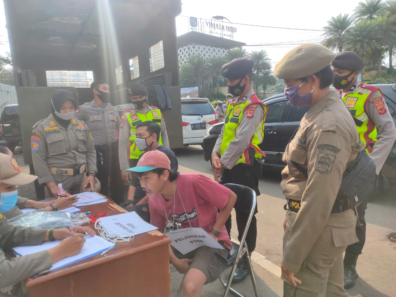 Polsek Megamendung Rutin Menggelar Operasi Yustisi, Sasar Para Pelanggar Prokes