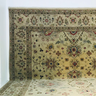 Hand-Woven Floral Wool Carpet