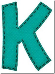 k letras verdes