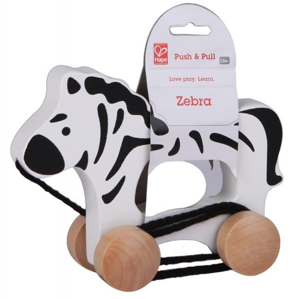 Xe kéo đồ chơi hình chú ngựa vằn Hape E0909A