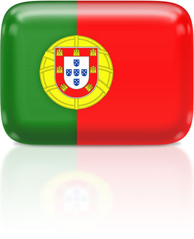 Portuguese flag clipart rectangular