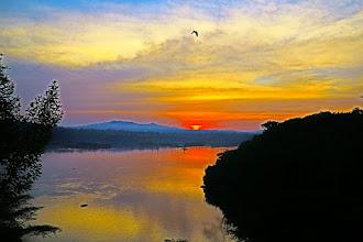 Photo: Sunset in Lake Victoria, Uganda