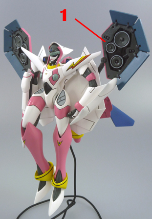 Macross 7 VF-11MAXL Thunderbolt Custom Mylene Valkyrie Armament weapon position