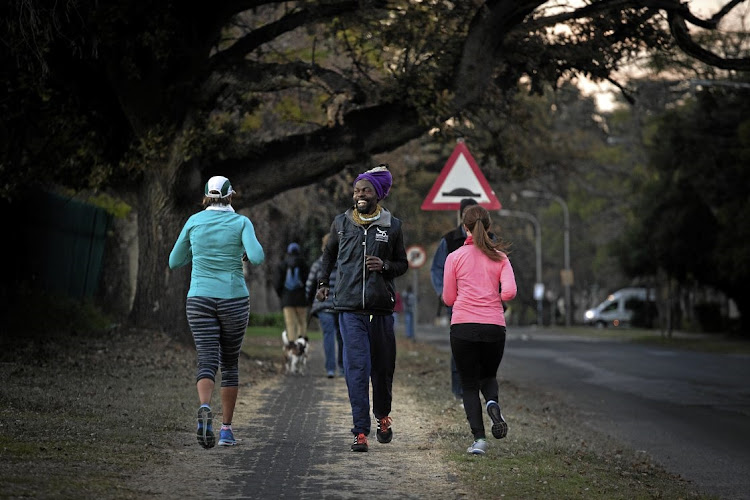 Farai Chinomwe has been competing - backwards - in ultra-marathons since 2015 to raise awareness of the plight of the bees. The biggest human movement study in history found that South Africans take about 4,000 steps a day, 20% less than the global average of 5,000. File photo.