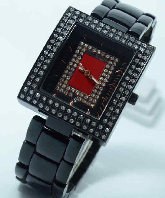 Jual Jam Tangan Richard mille date segi ring diamond full black  chain