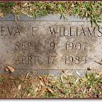 Eva E. Williams Daughter of Burley Halton Williams, Sr. Granddaughter of Cordelia Elizabeth Gleaves Spring Hill Cemetery  Hermitage, Tennessee