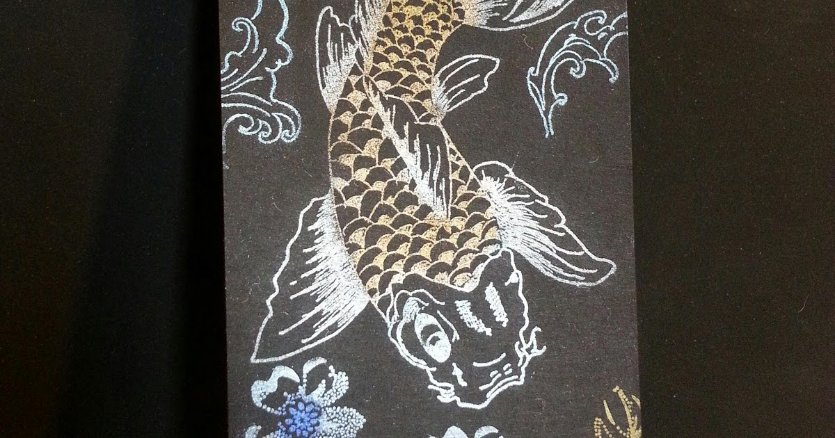 Scrap and stamping projects by bubbles perfect pearls koi tag for Perfect koi