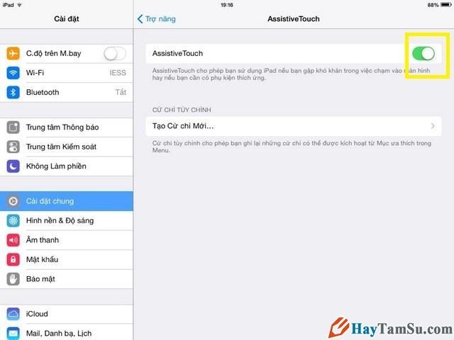 Kích hoạt phím home ảo của iPhone 4,5,6