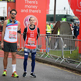 OIC - ENTSIMAGES.COM - Hugo Taylor and Oliver Proudlock  at the Virgin London Marathon 2015 in London 26th April 2015  Photo Mobis Photos/OIC 0203 174 1069