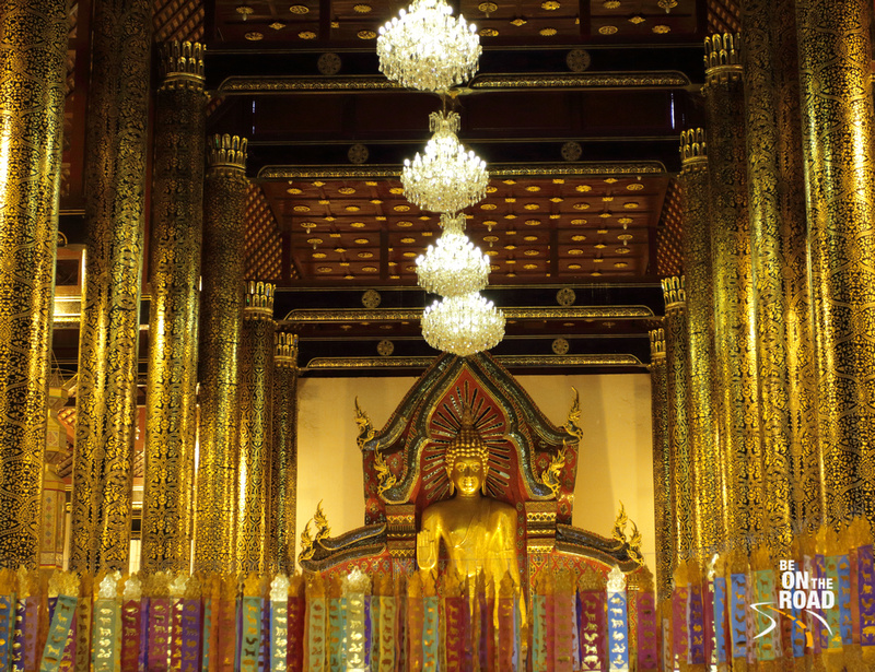 Inside the gorgeous Wat Chedi Luang, Chiang Mai, Thailand