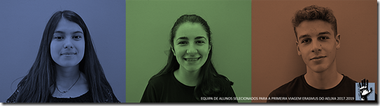 Alunos selecionados Programa ERAMUS - 1ª vaga (Itália)