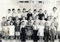 Mrs. Petersen Teaacher First Grade 1944.  Perry B. Gardis, Donals, Larry Wallace, Albert Henderson Dale Miller, Andy Johnson, Johnie Johnson, James Quick, Raymond James, Shirley McGardis, Johnny Albertson, Donna Mae Kyser, Abert Reiten, Janice Goodman, Arline Miller, Carlyn West, Lewis Palmer, Betty Galloway, Edith, Sharon Copeland, Charlie Atwood, Aice Kay Brady, June Wilson, Bobby Hoaker, Kerry Kyser Lawrence