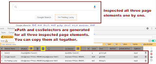 Generate and Copy xPath and cssSelectors of all elements of page Together