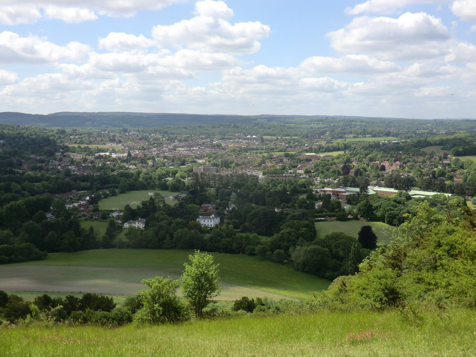 CIMG8431 View of Dorking from Box Hill