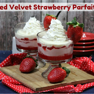 Red Velvet Strawberry Parfaits
