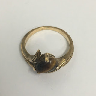 10 Kt. Gold and Tiger's Eye Ring
