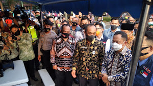 Tito Karnavian Hadiri Lonching Sejuta Masker dan Pengarahan Kepada Satuan Tugas Covid-19 Dan Persiapan Pilkada Di Indramayu