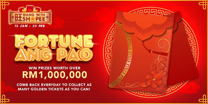'Fortune Ang Pao' Kempen 'Wang bersama Shopee' Menawarkan Hadiah Lebih RM1 Juta