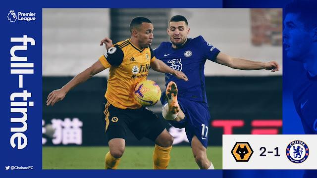 EPL: Chelsea Tumbang di Tangan Wolves.
