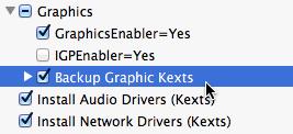 Backup graphic kexts