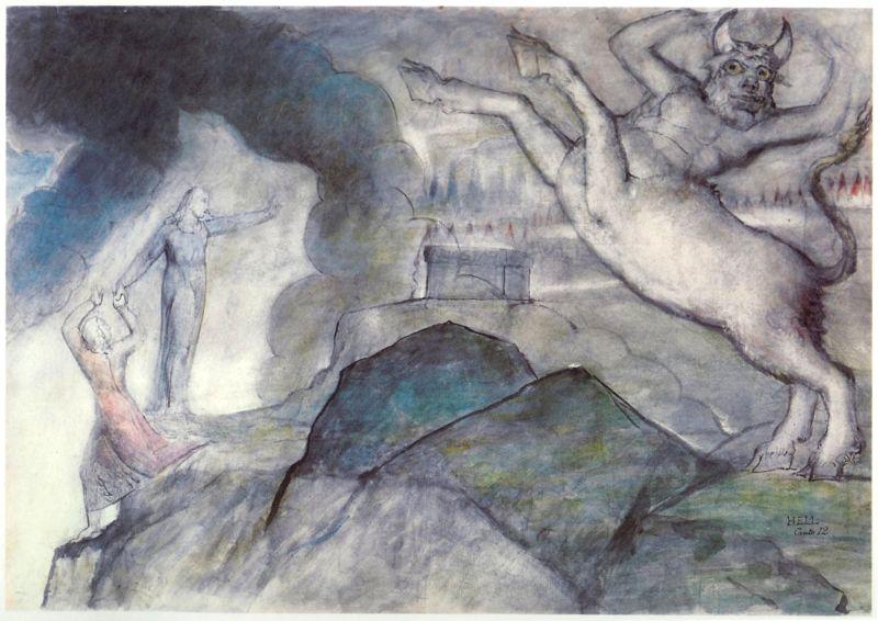 Blake Dante Hell Xii, William Blake